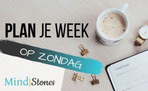 Plan je week op zondag